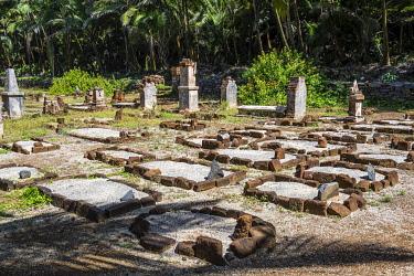 IBXRUN04870398 Old cemetery on Saint Joseph island, Iles du Salut, French Guiana, South America