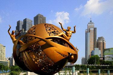 IBXTPG01772150 Contemporary sculpture, Chongqing, China, Asia