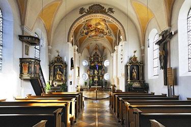 IBLABC03916708 Parish Church of St. Peter, Siegertsbrunn, Upper Bavaria, Bavaria, Germany, Europe