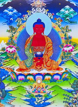 IBLBDN03914003 Amitabha Buddha seated on a lotus, Nepal, Asia