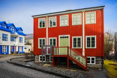 IBLDRN04862185 Gröndalshaus, former residence of Benedikt Gröndal, Icelandic writer and scientist, Reykjavik, Höfuðborgarsvæðið, Iceland, Europe