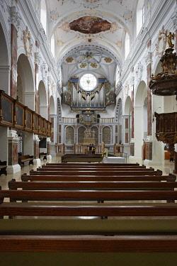 IBLEDS03971126 Basilica and pilgrimage church of St. Anna, Augsburg, Swabia, Bavaria, Germany, Europe