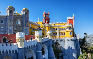 IBLMAB04861793 National Palace Pena, Cultural Landscape Sintra, Sintra, Portugal, Europe
