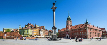 IBLMMW04266438 Castle Square, Royal Square with Sigismund column and Royal Castle, historic centre, Warsaw, Mazovia Province, Poland, Europe
