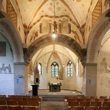 IBLSZI03930373 Stiepel village church, interior, Bochum, Ruhr district, North Rhine-Westphalia, Germany, Europe
