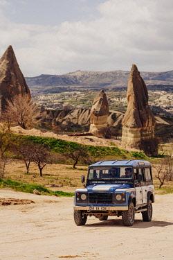 TUR1077AW Off-road car in Cappadocia, Anatolia, Turkey.