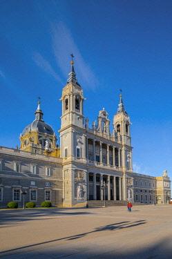 ES01209 Exterior of Almudena Cathedral, Madrid, Spain