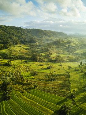 IDA0965AW Aerial View of Landscape near Sidemen, Bali, Indonesia
