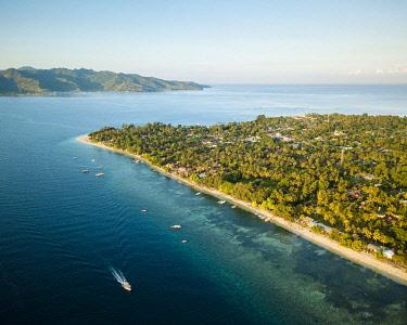 IDA0971AW Aerial view of Gili Islands, Lombok Region, Indonesia