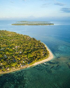 IDA0972AW Aerial view of Gili Islands, Lombok Region, Indonesia