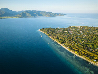 IDA0973AW Aerial view of Gili Islands, Lombok Region, Indonesia