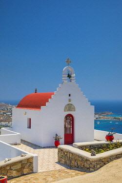 GR08367 Psarou Beach, Mykonos, Cyclade Islands, Greece