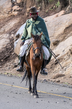 LES1210AW Lesotho, horseback rider