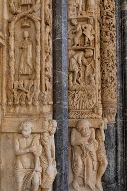 CR121RF The Cathedral of St. Lawrence, Trogir, Dalmatian Coast, Croatia, Europe
