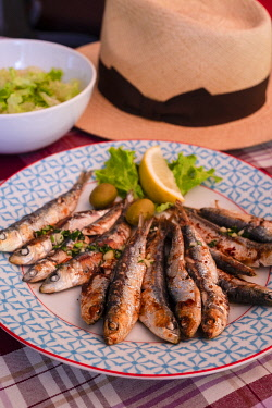 CR07318 Grilled Sardines, Croatia, Europe