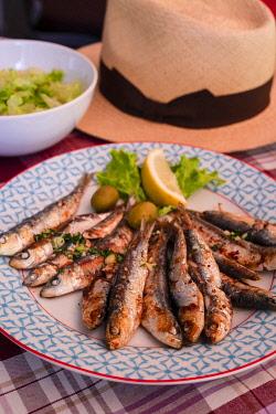 CR07318 Grilled Sardines, Croatia, Europe