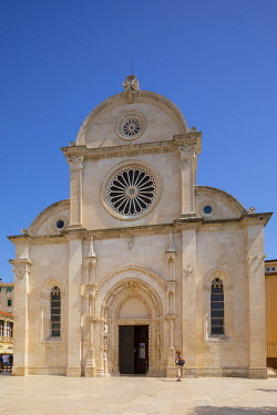 CR07329 Cathedral of St. James, Sibenik, Dalmatian Coast, Croatia, Europe