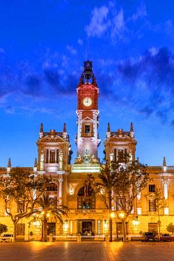 SPA9407AW Town Hall building, Plaza del Ayuntamiento square, Valencia, Comunidad Valenciana, Spain