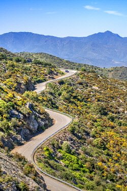 SPA9463AW Winding mountain road, El Port de la Selva, Costa Brava, Catalonia, Spain
