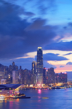 CH12013AW Hong Kong Island skyline at sunset, Hong Kong
