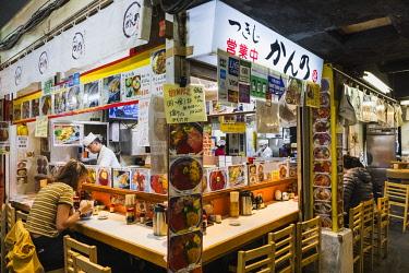 TPX70048 Japan, Honshu, Tokyo, Tsukiji Market, Seafood Restaurant