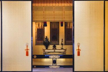 TPX70055 Japan, Honshu, Tokyo, Interior View of Tsukiji Hongwanji Buddhist Temple