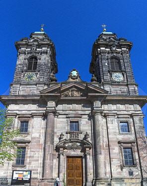 IBXMZC04890328 Baroque facade of St. Egidien Church, Nuremberg, Middle Franconia, Bavaria, Germany, Europe