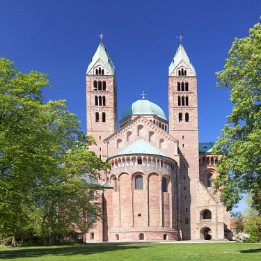 IBXMAL04551572 Imperial cathedral, Romanesque, UNESCO World Heritage Site, Speyer, Rhineland-Palatinate, Germany, Europe
