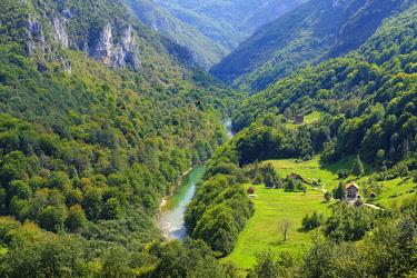 IBXMAN04825929 River Tara, Tara Gorge, View from Tara Bridge in Durdevica, Durmitor National Park, Pljevlja Province, Montenegro, Europe