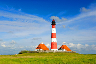 IBXKCV04884870 Lighthouse Westerheversand, Westerhever, Schleswig-Holstein, Germany, Europe