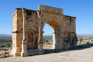 IBXHLT00243167 The Triumphal Arch of Caracalla in Volubilis, Morocco, Africa
