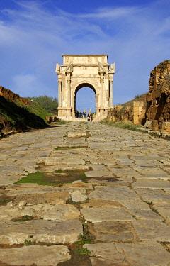 IBXGUF00053921 Arch of Septimus Severus Leptis Magna Libya