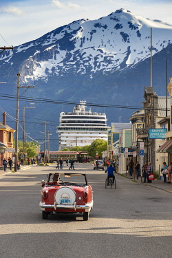 US41200 USA, Alaska, Skagway, old town