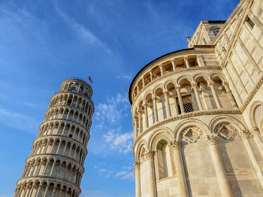 ITA14272AWRF Cathedral and Leaning Tower, Piazza dei Miracoli, Pisa, Tuscany, Italy