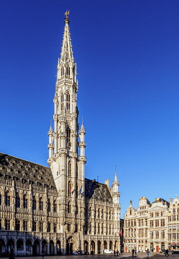BEL1908AWRF Town Hall at Grand Place, UNESCO World Heritage Site, Brussels, Belgium