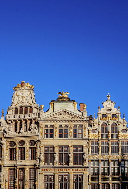 BEL1879AW Houses at Grand Place, UNESCO World Heritage Site, Brussels, Belgium
