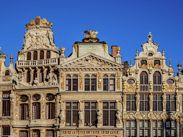 BEL1889AW Houses at Grand Place, UNESCO World Heritage Site, Brussels, Belgium