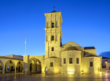CYP0050AWRF Church of Saint Lazarus at night, Greek Orthodox Church named after Lazarus of Bethany, Larnaca, Larnaca District, Cyprus.