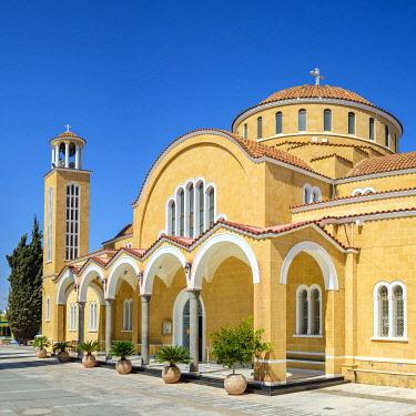 CYP0053AWRF Agios Georgios, new Church of Saint George on the main square, Paralimni, Famagusta District, Cyprus.
