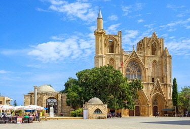 CYP0055AWRF Lala Mustafa Pasha Mosque, originally known as the Cathedral of Saint Nicholas, Famagusta (Gazimagusa), Cyprus (Northern Cyprus).