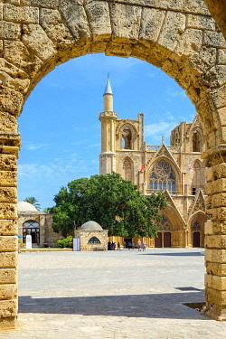 CYP0057AWRF Lala Mustafa Pasha Mosque, originally known as the Cathedral of Saint Nicholas, Famagusta (Gazimagusa), Cyprus (Northern Cyprus).