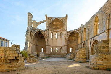 CYP0093AW Ruined Church of Saint George of the Greeks, Famagusta (Gazimagusa), Cyprus (Northern Cyprus).