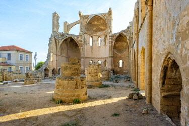 CYP0094AW Ruined Church of Saint George of the Greeks, Famagusta (Gazimagusa), Cyprus (Northern Cyprus).