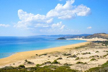 CYP0104AW Golden Beach on the Karpaz Peninsula, Rizokarpaso (Dipkarpaz), Famagusta (Iskele) District, Cyprus (Northern Cyprus).