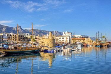 CYP0122AW Kyrenia Harbour, Kyrenia (Girne), Kyrenia (Girne) District, Cyprus (Northern Cyprus).