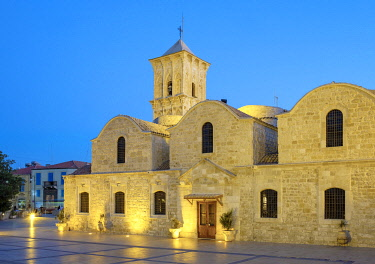 CYP0169AW Church of Saint Lazarus at night, Greek Orthodox Church named after Lazarus of Bethany, Larnaca, Larnaca District, Cyprus.