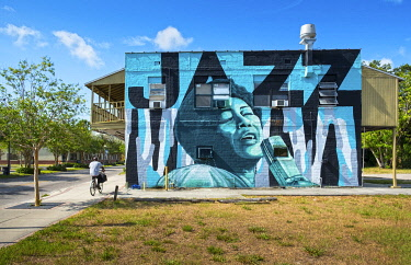 US11985 USA, Florida, Saint Petersburg, Ella Fitzgeral Wall Mural, Great Jazz Singer, African-American Heritage Trail, The Deuces Neighborhood