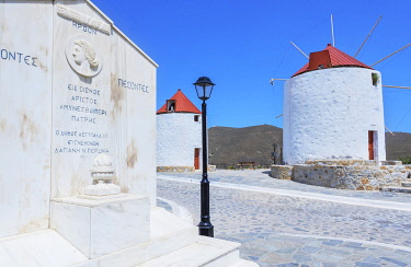 GRE1738AW Traditional windmill, Astypalea, Dodecanese Islands, Greece