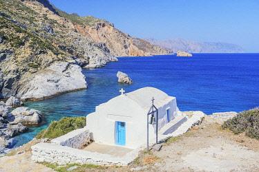 GRE1741AW Agia Anna beach, Amorgos, Cyclades, Greece, Europe