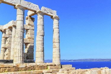 GRE1750AW Temple of Poseidon, Cape Sounion, Attica, Greece